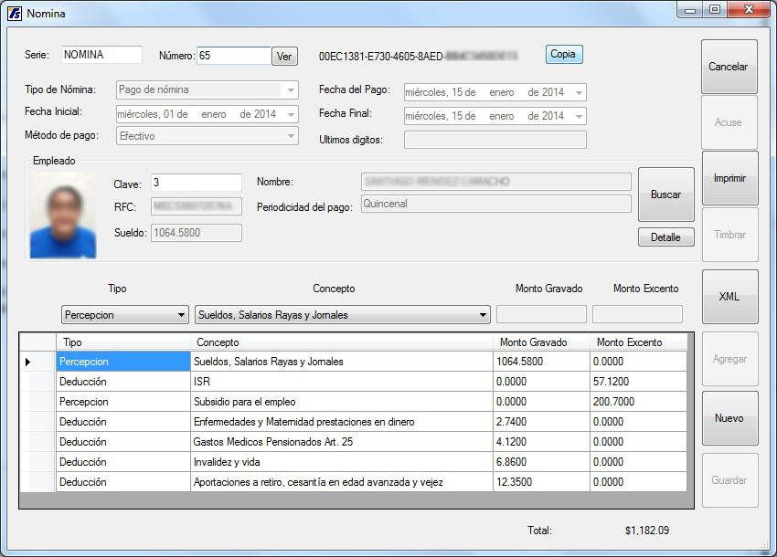 Nominas y ventas software de punto de venta y administraci for Nomina en blanco para rellenar